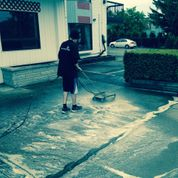 Cleaning patio