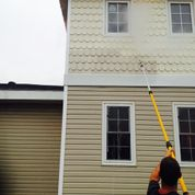 Cleaning house siding