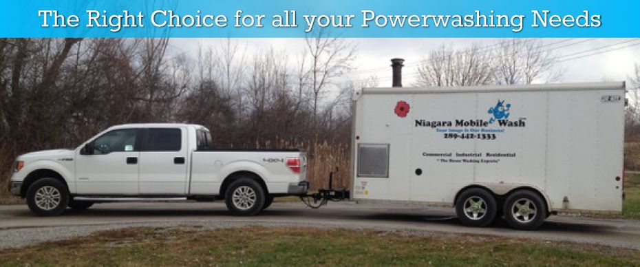 The Right Choice for all your Powerwashing Needs - Truck and Trailer